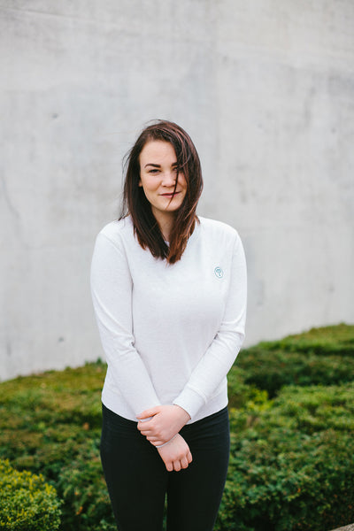 Basic Sweatshirt Women - Heather White