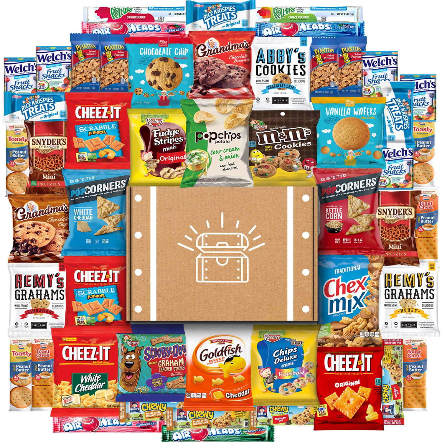 Cookies, Chips & Candies Ultimate Snacks Care Package Bulk Variety Pack Bundle Sampler (50 Count)