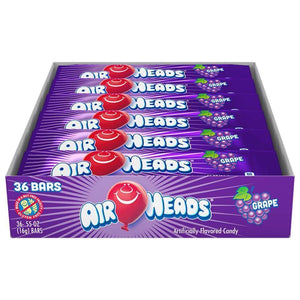 Airheads Grape, 36 Ct. 0.55 Oz. Bars - www.inmatecarepackage.net