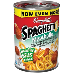 Campbell's Pasta Spaghetti & Meatballs 15.6Oz - www.inmatecarepackage.net
