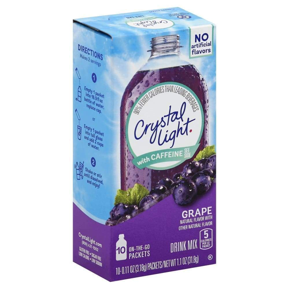 Crystal Light On The Go Powdered Soft Drink Grape - www.inmatecarepackage.net