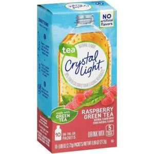 Crystal Light On The Go Powdered Soft Drink Green Tea Raspberry - www.inmatecarepackage.net