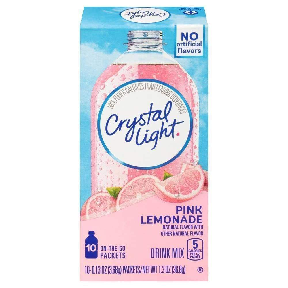 Crystal Light On The Go Powdered Soft Drink Pink Lemonade - www.inmatecarepackage.net