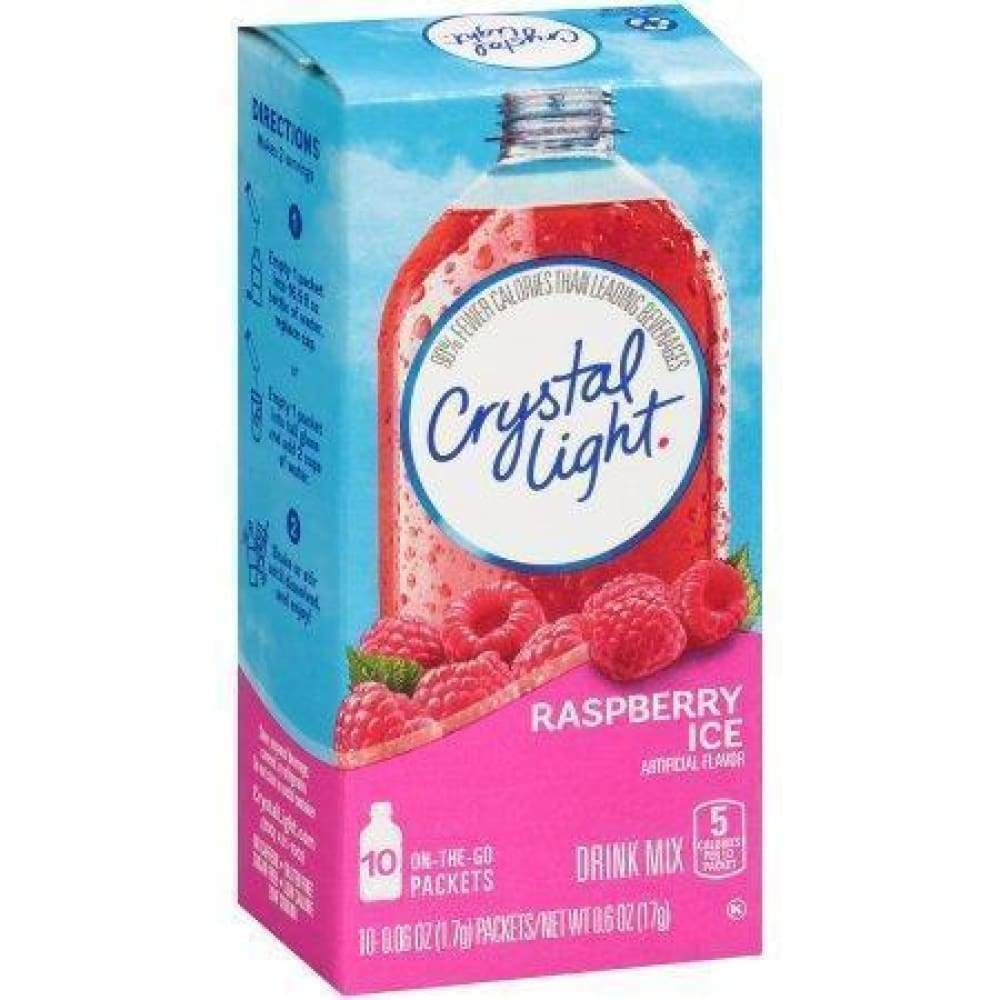 Crystal Light On The Go Powdered Soft Drink Raspberry Ice - www.inmatecarepackage.net