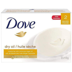 Dove Bar Soap Dry Oil 2 Bars - www.inmatecarepackage.net