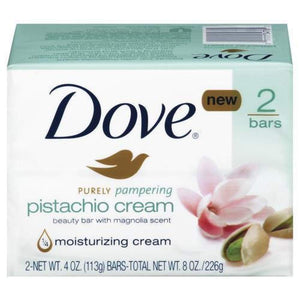 Dove Bar Soap Pistachio And Magnolia 2 Bars - www.inmatecarepackage.net