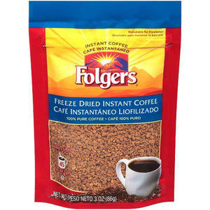 Folgers 3 Ounce Freeze Dried Instant - www.inmatecarepackage.net