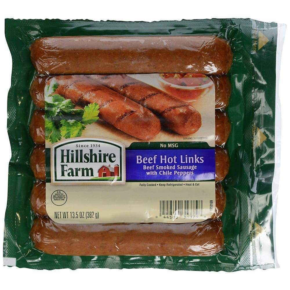 Hillshire Farm(R) Hot Beef Smoked Sausage Links, 6 Count - www.inmatecarepackage.net