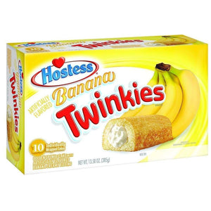 Hostess Banana Twinkie Multi-Pack Box 10 Count - www.inmatecarepackage.net