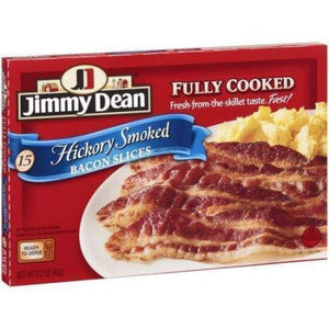 Jimmy Dean Fully Cooked Hickory Bacon 2.2Oz - www.inmatecarepackage.net