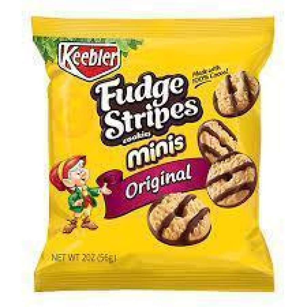 Keebler Fudge Shoppe Cookies Fudge Stripe Minis Original, 2 Oz. - www.inmatecarepackage.net