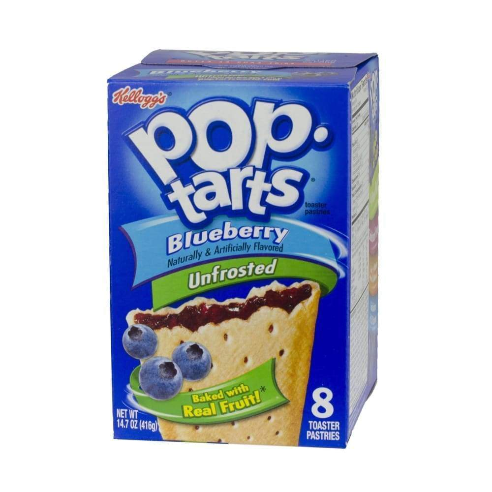 Kellogg's Pop-Tarts Blueberry 14.7Oz - www.inmatecarepackage.net
