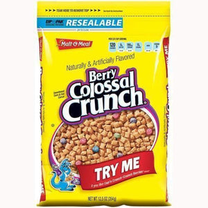 Malt-O-Meal Berry Colossal Crunch 14 Oz. - www.inmatecarepackage.net