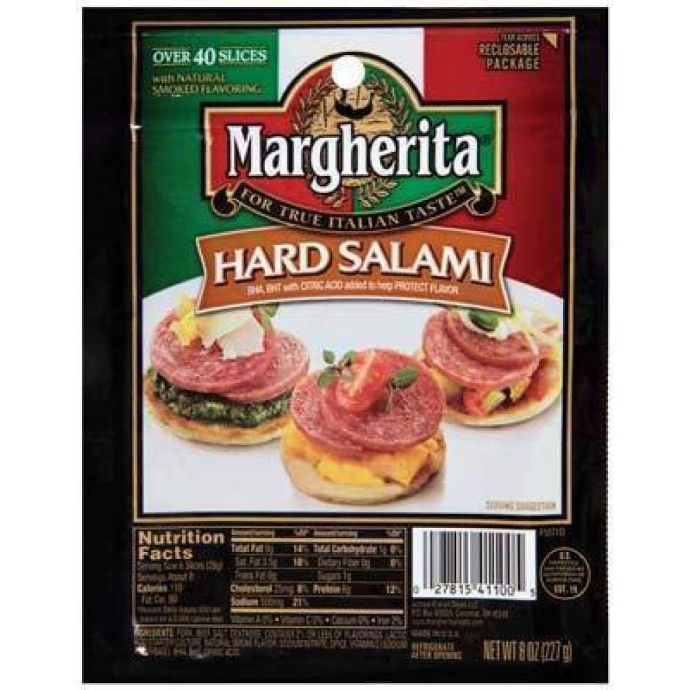 Margherita Dried Sausage Genoa Salami 8 Oz - www.inmatecarepackage.net