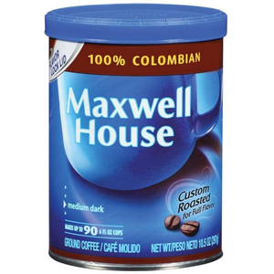 Maxwell House Colombian Vacuum Bag 100% 10.5Oz - www.inmatecarepackage.net