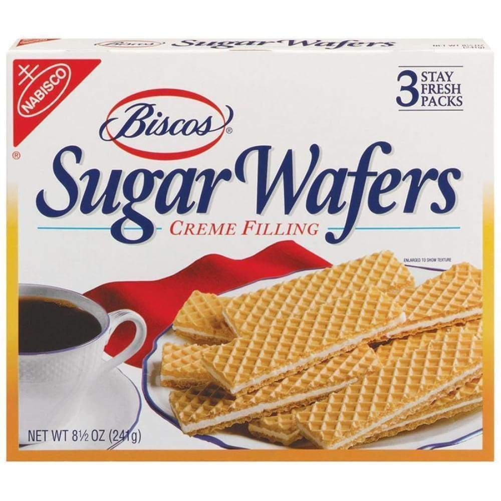 Nabisco Biscos Sugar Wafers Cookies Creme Filling, 8.5 Oz. - www.inmatecarepackage.net