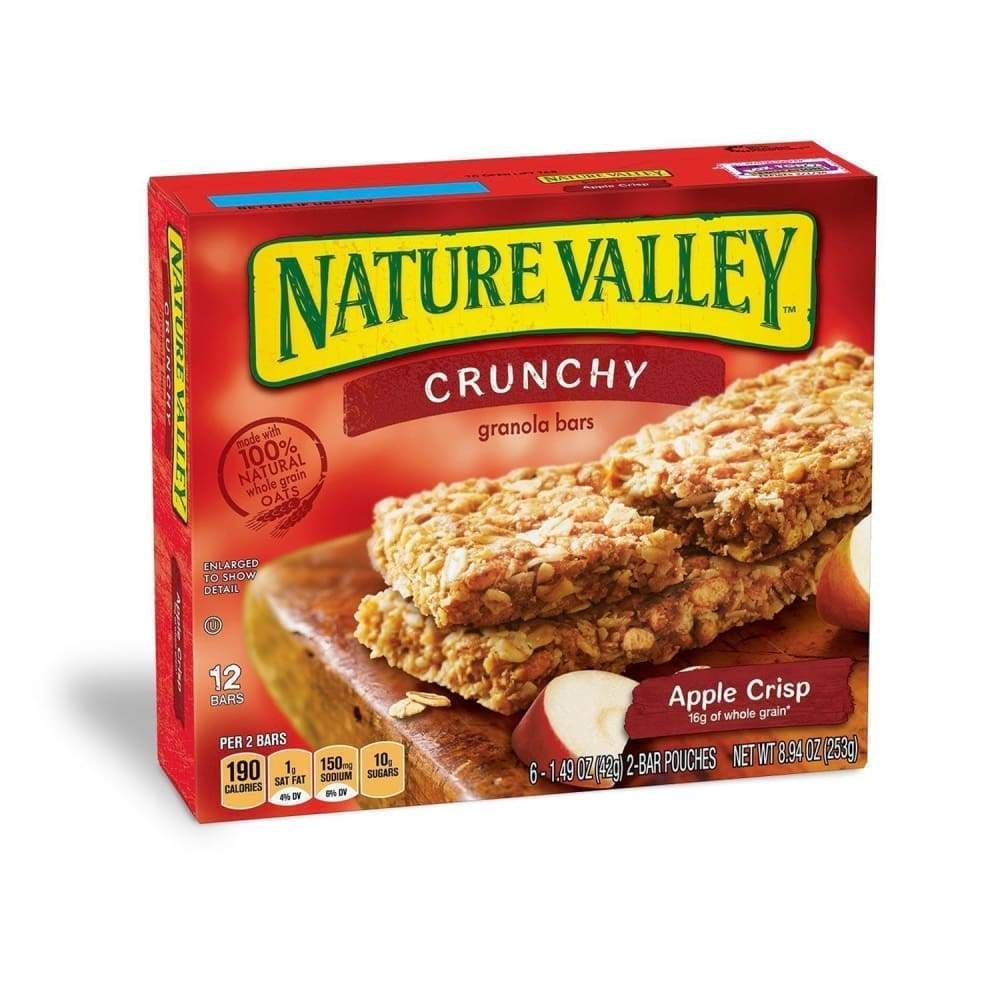 Nature Valley(R) Crunchy Granola Bar, Apple Crisp, 12 Ct - www.inmatecarepackage.net