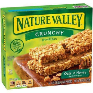 Nature Valley(R) Crunchy Granola Bar, Oats & Honey, 6 Ct - www.inmatecarepackage.net