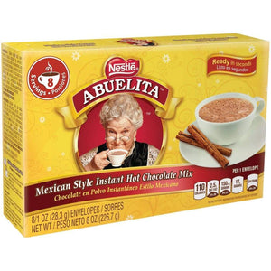 Nestle Abuelita Beverage Powder Chocolate Beverage Powder 8 Packets - www.inmatecarepackage.net