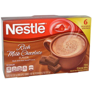 Nestle Cocoa Mix Rich Milk Chocolate 6 Packets - www.inmatecarepackage.net