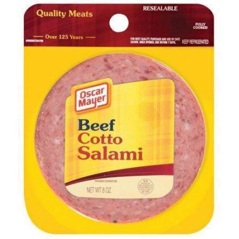 Oscar Mayer Cotto Salami Beef 8 Oz. - www.inmatecarepackage.net
