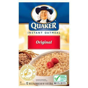 Quaker Instant Oatmeal 12 Packets 11.8 Oz Box. - www.inmatecarepackage.net
