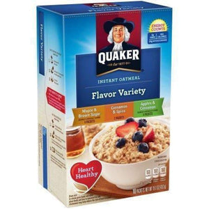 Quaker Instant Oatmeal Flavor Variety Pack 10 Packets 15.1 Oz. Box - www.inmatecarepackage.net