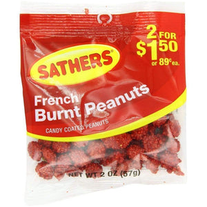 Sathers Burnt Peanuts Candy, 2 Oz. - www.inmatecarepackage.net