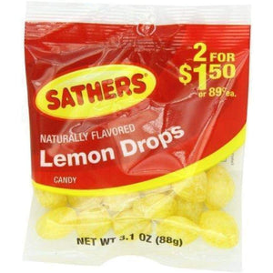 Sathers Lemon Drops, 3.1 Oz. - www.inmatecarepackage.net