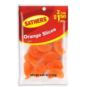 Sathers Orange Slices, 4.85 Oz. - www.inmatecarepackage.net