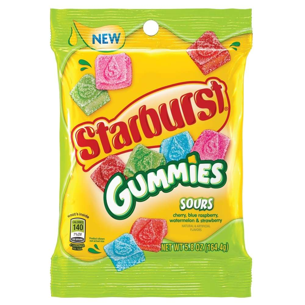 Starburst Gummies Sours, 5.8 Oz. - www.inmatecarepackage.net