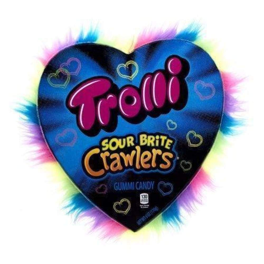 Trolli Sour Brite Crawlers - Large Gift Heart, 6 Oz. - www.inmatecarepackage.net