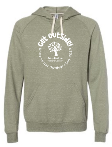 FERN HOLLOW GET OUTSIDE! ADULT SNOW HEATHER HOODED SWEATSHIRT