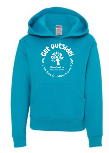 FERN HOLLOW GET OUTSIDE! YOUTH HOODED SWEATSHIRT