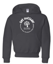 Load image into Gallery viewer, FERN HOLLOW GET OUTSIDE! YOUTH HOODED SWEATSHIRT