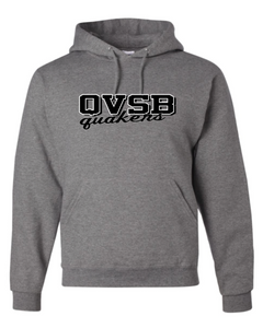 JERZEES BRAND QVSB QUAKERS YOUTH OR ADULT HOODED SWEATSHIRT WITH PERSONALIZATION OPTION