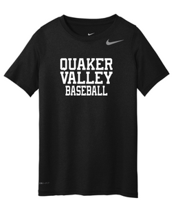 NIKE BRAND QVSB BASEBALL ADULT SHORT SLEEVE T-SHIRT WITH PERSONALIZATION OPTION