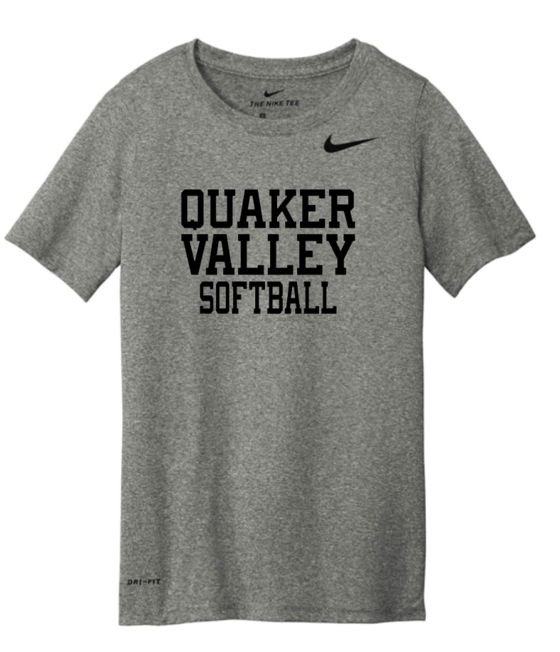 NIKE BRAND QVSB SOFTBALL ADULT SHORT SLEEVE T-SHIRT WITH PERSONALIZATION OPTION