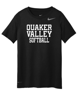 NIKE BRAND QVSB SOFTBALL YOUTH SHORT SLEEVE T-SHIRT WITH PERSONALIZATION OPTION