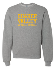 Load image into Gallery viewer, QVSB JOINT SOFTBALL-BASEBALL RUSSELL BRAND DRI-POWER YOUTH OR ADULT CREW NECK SWEATSHIRT
