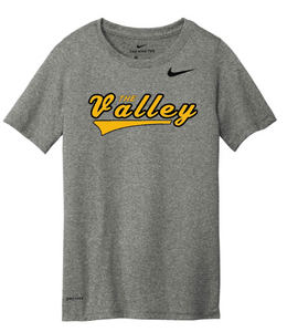 "NIKE BRAND QVSB ""THE VALLEY"" ADULT SHORT SLEEVE T-SHIRT WITH PERSONALIZATION OPTION"