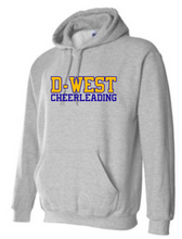 Load image into Gallery viewer, DOWNINGTON WEST CHEER STATE CHAMPS / D-WEST CHEERLEADER HOODED SWEATSHIRT
