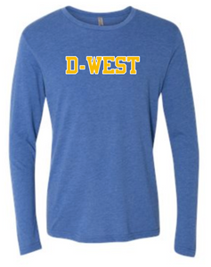 DOWNINGTON WEST CHEER STATE CHAMPS TRI-BLEND COTTON LONG SLEEVE