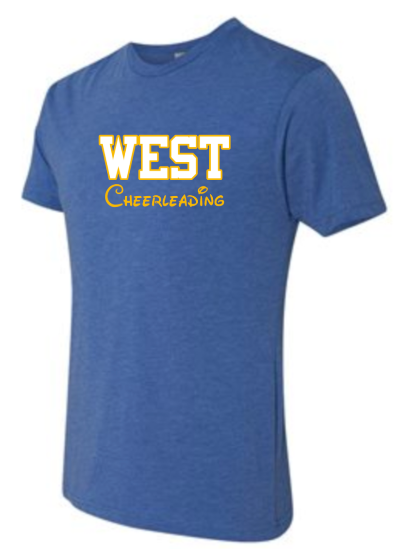 DOWNINGTON WEST CHEER STATE CHAMPS *Disney Font* TRI-BLEND COTTON SHORT SLEEVE