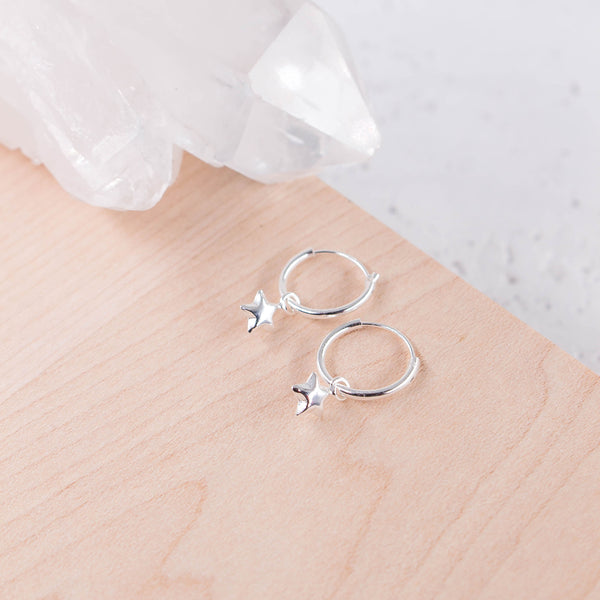 Earrings Star Hoop * Sterling
