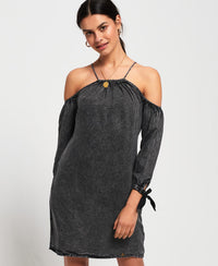 Eden Cold Shoulder Dress - Dark Grey - Superdry.sg