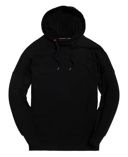 Active Studio Luxe Oversized Hood - Black - Superdry.sg