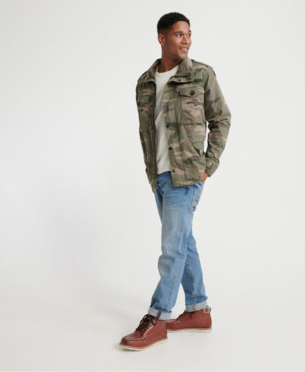 Rookie Field Jacket - Green - Superdry.sg