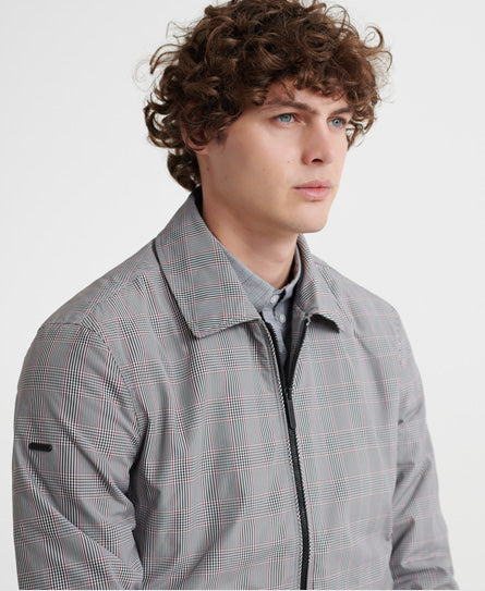 Edit Collared Harrington Jacket - Grey - Superdry.sg