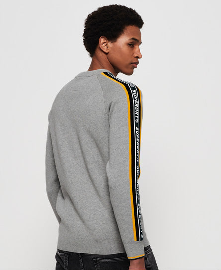 Superdry Grade Embossed Crew - Grey - Superdry.sg